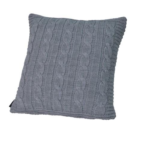 Элитная подушка декоративная Boston светло-серая от Casual Avenue