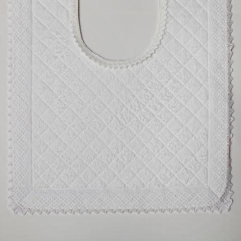Элитный коврик для унитаза Buratto белый от Old Florence