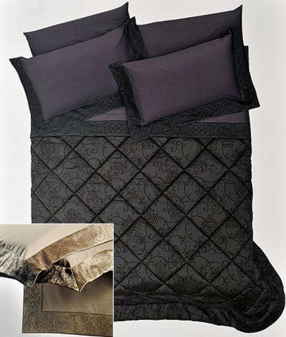 Постельное белье 1.5 спальное Cassera Casa Bach Bordi черное