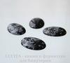 Кабошон овальный Обсидиан Снежный, цвет - черный с белыми крапинками 25х18х5,5 мм ()