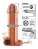 Удлиняющая насадка на пенис X-tensions Vibrating Real Feel 2 (16,5х4,5см)