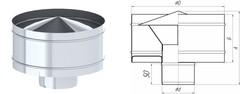 Дефлектор TMF ф80, 0,5мм нерж