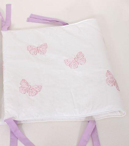 Бампер для детской кроватки 185х45 Bovi Бабочки