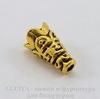 Шапочка - конус для бусины с узором 15х9 мм (цвет - античное золото)