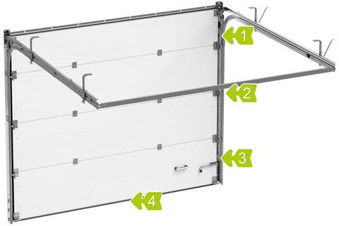 Секционные ворота Alutech ШхВ 2750х2460 мм