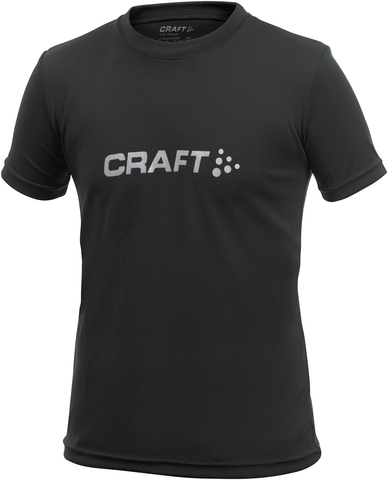 Футболка Craft Light Logo для юниоров черная