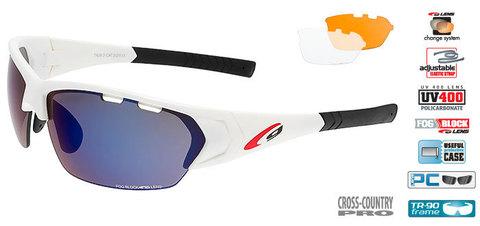 Солнцезащитные очки goggle DRONE white/blue