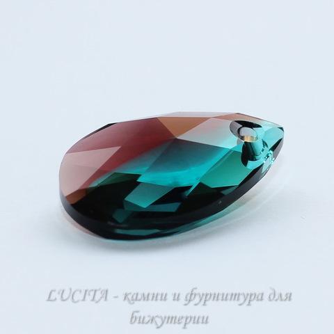 6106 Подвеска Сваровски Капля Burgundy/Blue Zircon Blend (16 мм) ()