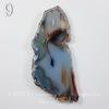 Подвеска Срез Агата, цвет - дымчатый голубой