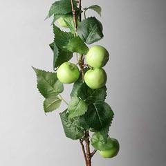 Ветка декор, яблоки зеленые ,75 см
