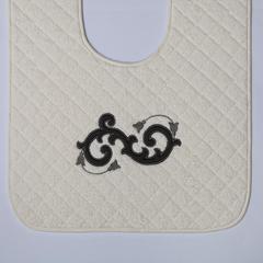 Элитный коврик для унитаза Ricciolo бежевый с коричневой аппликацией от Old Florence