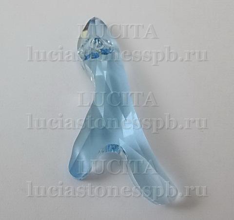 6791 Подвеска Сваровски Коралл Aquamarine (25 мм)