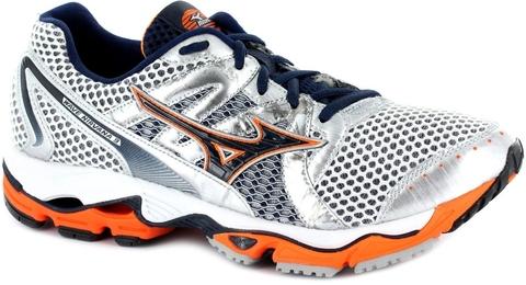 Mizuno Wave NIRVANA  9 Кроссовки для бега мужские white/orange