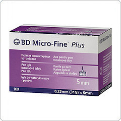 Иглы для шприц-ручки Micro Fine Plus (Микро-Файн Плюс) 5 мм № 100