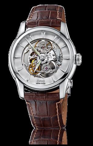 Купить Наручные часы Oris Artelier Skeleton 01 734 7670 4051 по доступной цене
