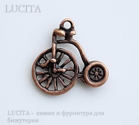 """Подвеска """"Велосипед"""" 17х17 мм (цвет - античная медь) ()"""