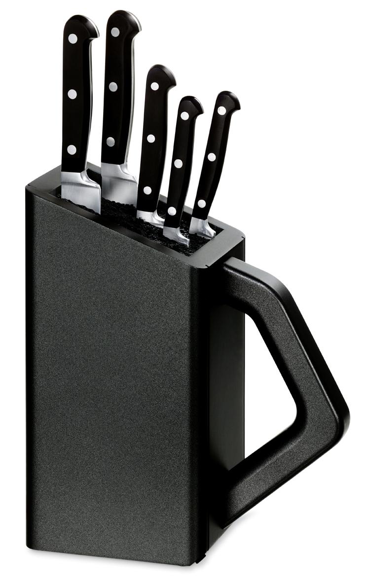 Набор Victorinox кухонный, 5 предметов, в подставке, черный