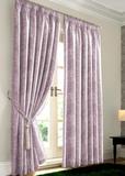Валенсия (пыльная роза) .Готовая штора блэкаут жаккард с орнаментом в виде вензеля из шенила.