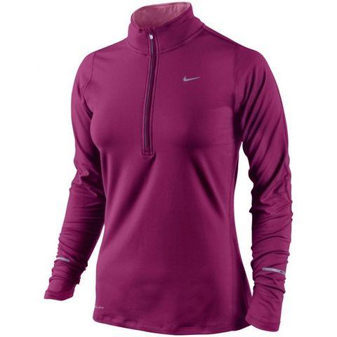 Футболка Nike Element 1/2 ZIP (W) /Рубашка беговая фиолетовая