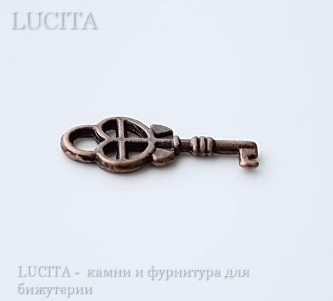 """Подвеска """"Ключик"""" 18х8 мм (цвет - античная медь) ()"""