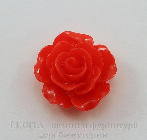 """Кабошон акриловый """"Роза"""", цвет - красный, 14 мм"""