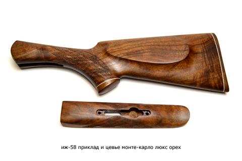 иж-58 приклад и цевье монте-карло люкс орех