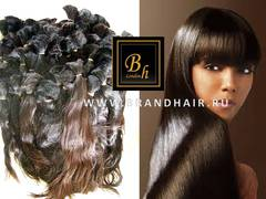 Натуральные неокрашенные волосы в срезе-60 CM-вес90 гр