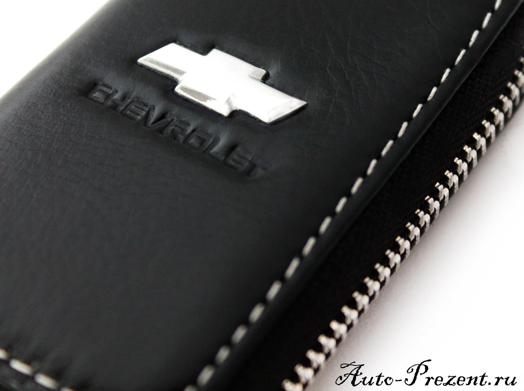 Кожаный чехол для ключа с логотипом CHEVROLET