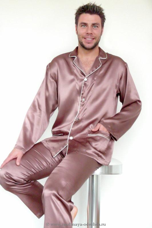 Шелковая мужская пижама B&B
