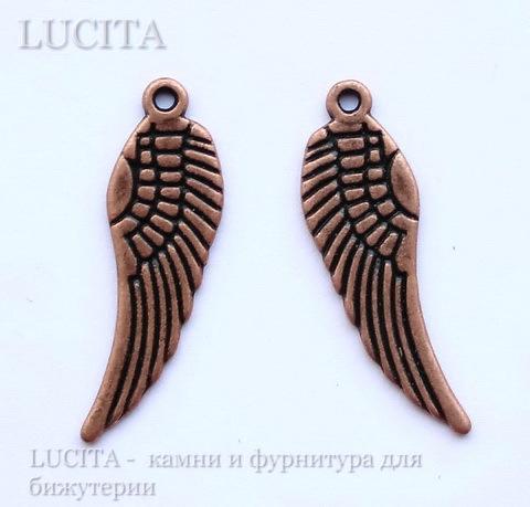 """Подвеска """"Крыло"""" 30х9 мм (цвет - античная медь) ()"""