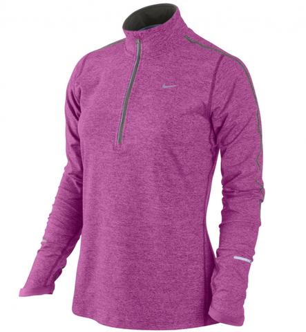 Футболка Nike Element 1/2 ZIP (W) /Рубашка беговая сиреневая