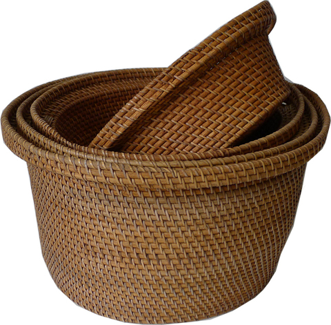 Комплект корзин из ротанга (4 шт)