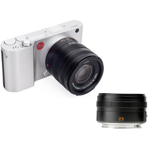 Leica T Kit Vario-Elmar-T 18-56 mm/f3.5-5.6 ASPH+Summicron-T 23 mm/f2 ASPH Silver