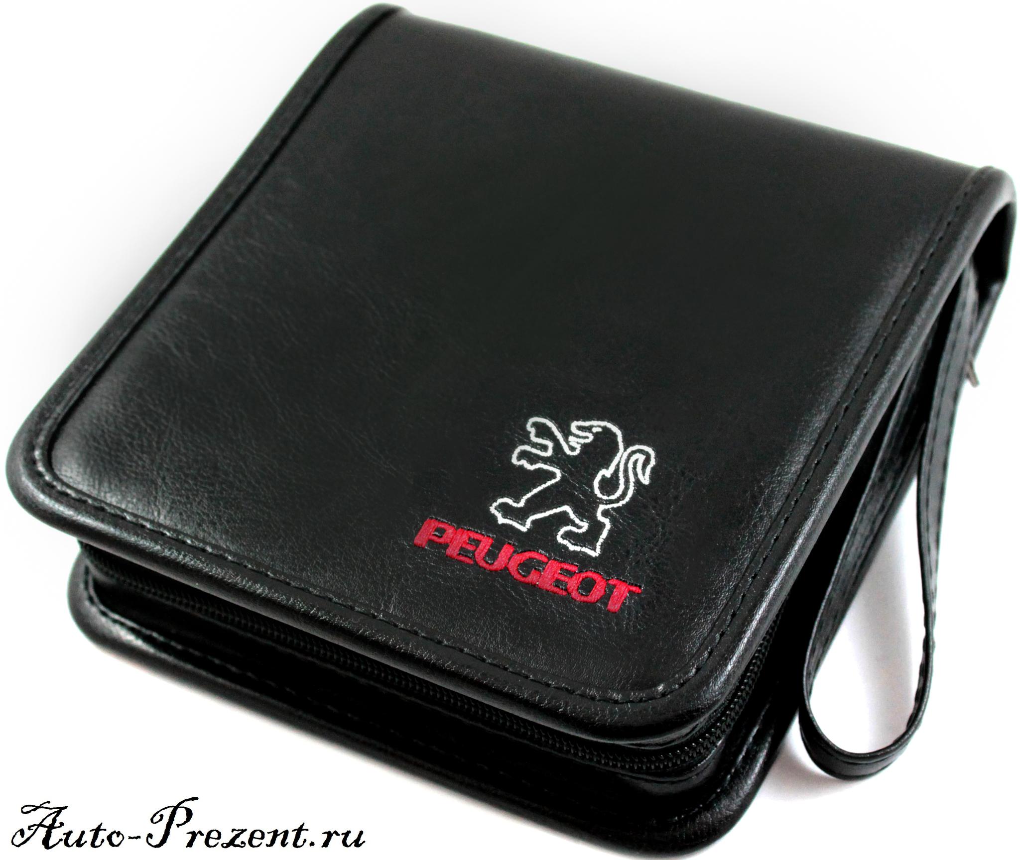 Портмоне для cd, dvd дисков с логотипом Peugeot
