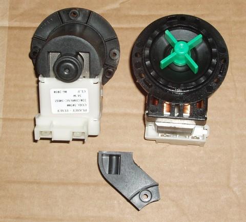 Насос (помпа) Plaset 34W/Askoll 40W без улитки, 3 винта, клеммы назад раздельно, см. 63AB912