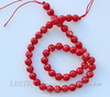 Бусина Яшма Императорская (прессов), шарик, цвет - красный, 8 мм, нить