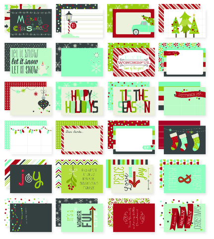 "Журнальные карточки ""Christmas"" 10х15см -24шт"