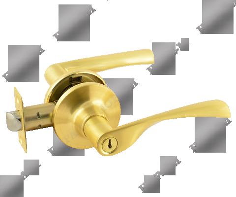 Фурнитура - Ручка Дверная  Nora-M ЗВ2-05, цвет золото матовое