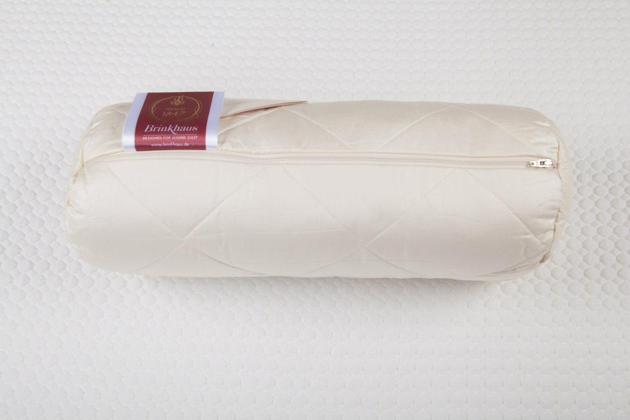 Подушки для сна Подушка-валик шерстяная стеганая 15х40 Brinkhaus Exquisit elitnaya-podushka-valik-sherstyanaya-steganaya-exquisit-ot-brinkhaus-germaniya.jpg