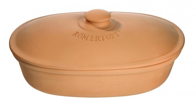 Хлебница керамическая овальная Roemertopf