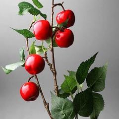 Ветка декор, яблоки красные ,75 см