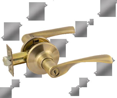 Фурнитура - Ручка Дверная  Nora-M ЗВ2-05, цвет старая бронза