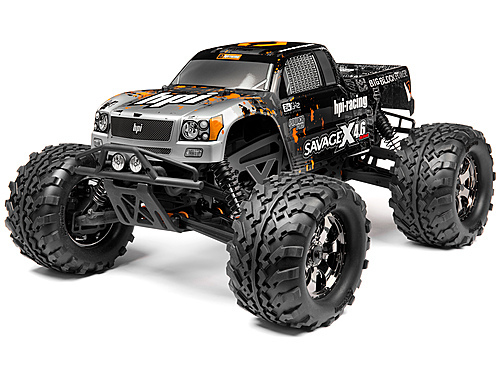 Монстр HPI-109084 1/8 SAVAGE X 4.6 RTR (SILVER/BLACK)
