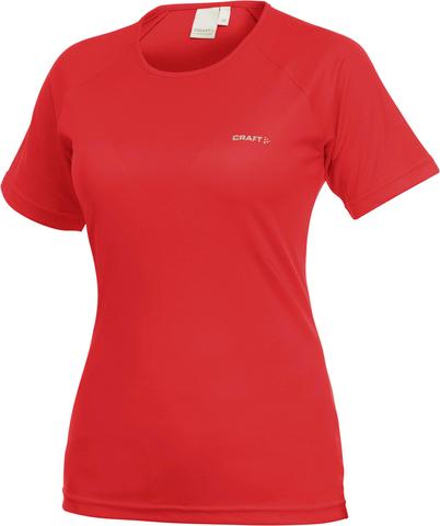 Футболка беговая женская Craft Active Run red