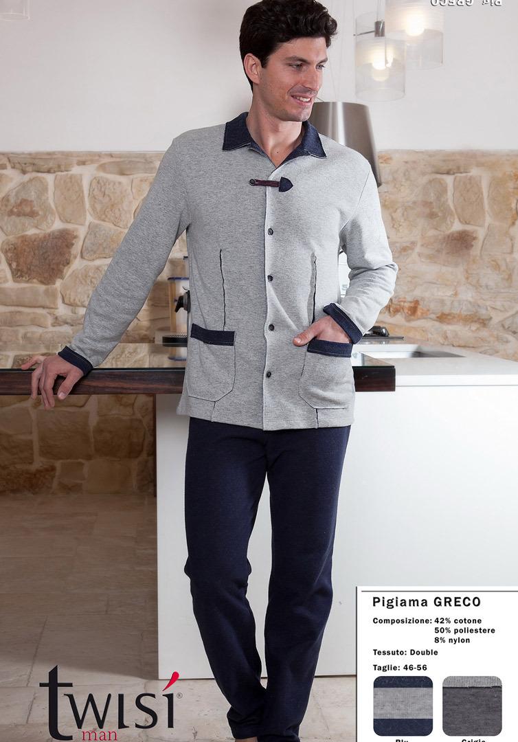 Мужской домашний комплект на пуговицах Twisi (Домашние костюмы и пижамы)