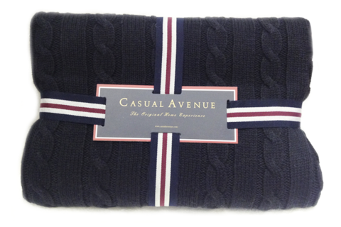 Плед 130х170 Boston от Casual Avenue темно-синий