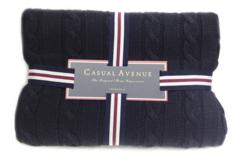 Элитный плед Boston темно-синий от Casual Avenue