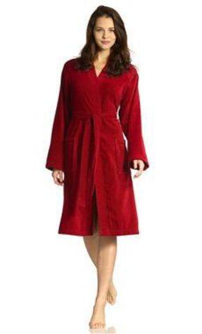 Элитный халат махрово-велюровый Toronto rubin от Vossen
