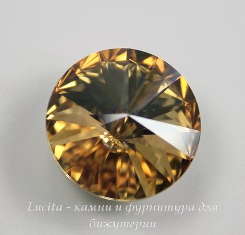 1122 Rivoli Ювелирные стразы Сваровски Crystal Golden Shadow (18 мм) ()
