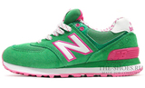 Кроссовки Женские New Balance 574 Green White Pink